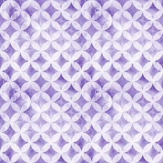 円のシームレスなパターンを重ねる抽象的なグランジ。水彩手描きライトパープルテクスチャ背景。水彩の幾何学的な球形の要素。テキスタイル、壁紙、ラッピング用に印刷