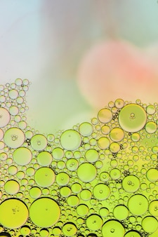 Abstract half empty bubbles background