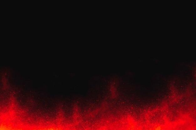 검은 배경에 화재와 추상 할로윈 배경