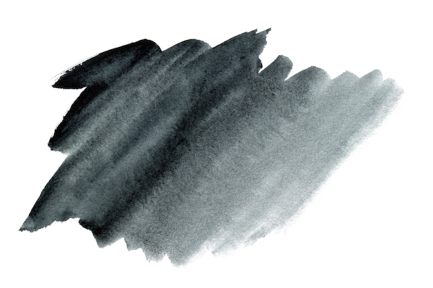 テキストまたはロゴの抽象的な手描きの黒い水彩背景 Premium写真