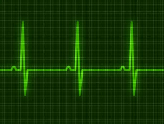 Абстрактное сердце бьется кардиограмма