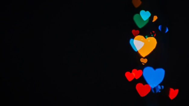 Abstract heart-shaped lights