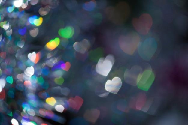 추상 마음 bokeh 빛. 여러 가지 빛깔.