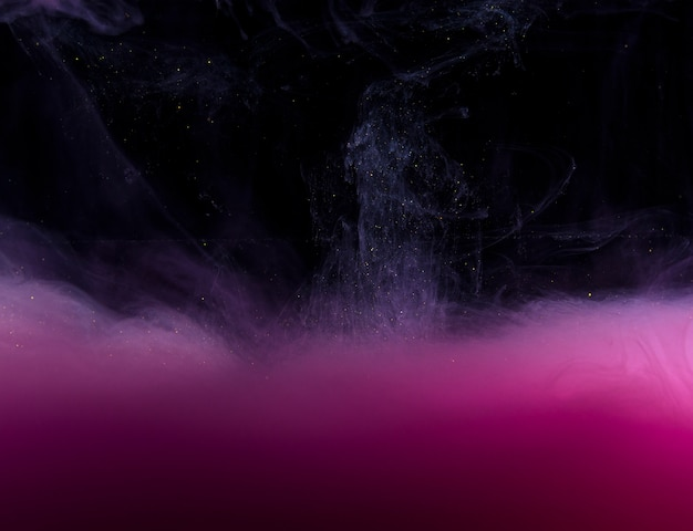 Abstract heavy pink haze in darkness