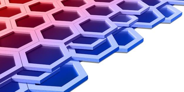 さまざまな色の抽象的な六角形レインボーハニカム壁