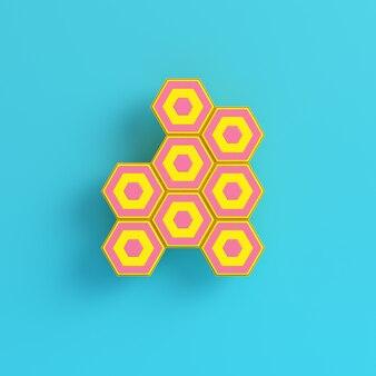 Абстракция, шестиугольник, структура, ячейка, элемент, мозаика, строительство, сотовый, гребень