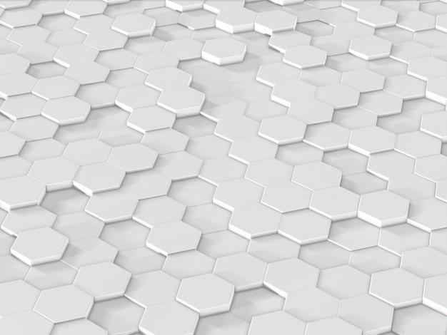抽象的な六角形の背景。幾何学的ポリゴンの3dレンダリング。