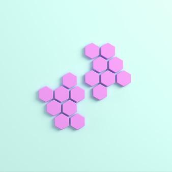 Абстрактные шестиугольники на ярком фоне