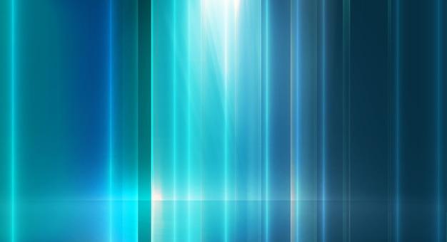 抽象的なハイテク背景、地面に空の背景光の効果