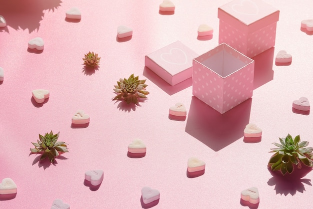 ピンクの抽象的な休日の背景