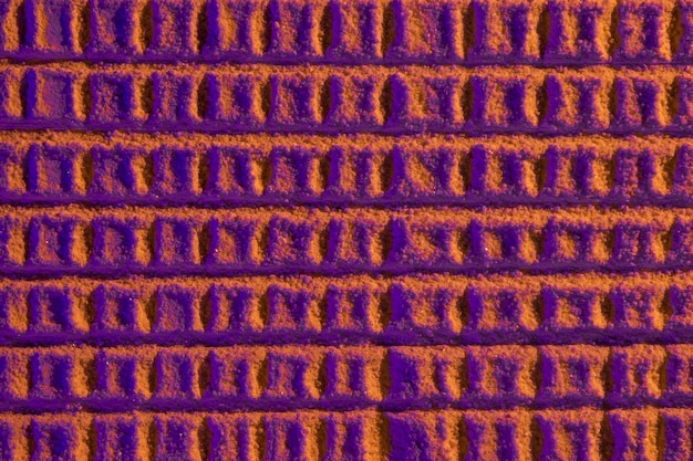 Abstract honeycomb with violet sand