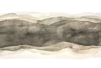 Abstract Horizontal Black Watercolor Background