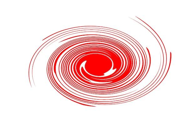 Абстрактная иллюстрация красного вихря на белом фоне