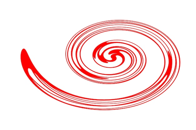 Abstract illustration of a red vortex on a white background