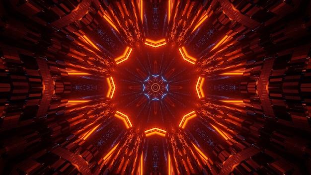 Illustrazione astratta con luci al neon luminose colorate - ottimo per sfondi e sfondi