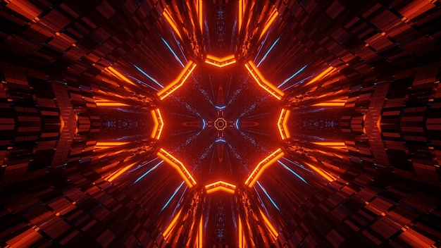 Abstract illustration with colorful glowing neon lights - great for backgrounds and wallpapers