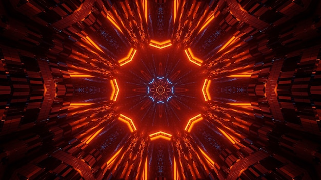 Абстрактная иллюстрация с яркими неоновыми огнями - отлично подходит для фонов и обоев