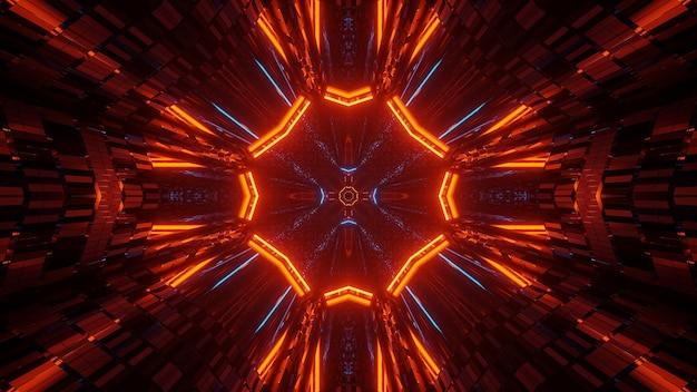 Абстрактная иллюстрация с красочными светящимися неоновыми огнями - отлично подходит для фонов и обоев