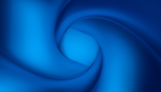 Abstract image of a blue vortex. 3d render.