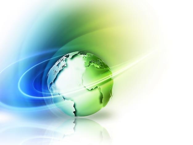 緑の惑星と環境の抽象的なイメージの概念