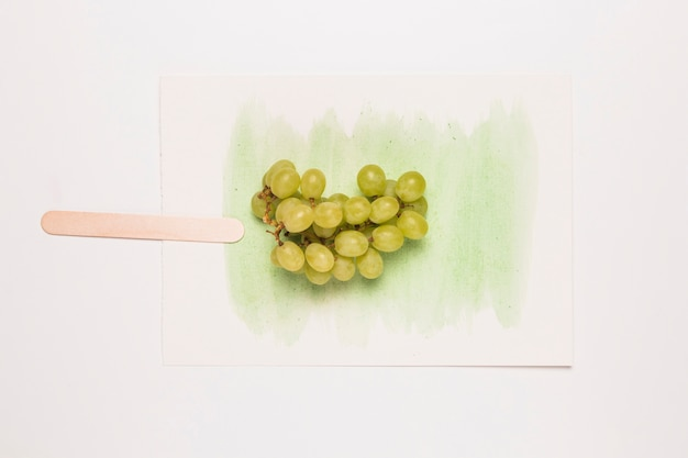 Abstract image of grape ice cream on watercolor splash