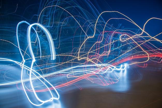 マルチカラーライトの抽象的なイメージ