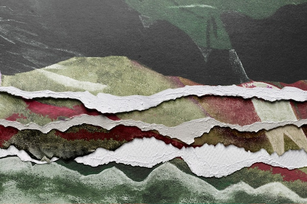 Abstract image in torn paper style