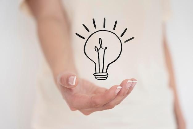 추상적 인 혁신적인 아이디어 표현