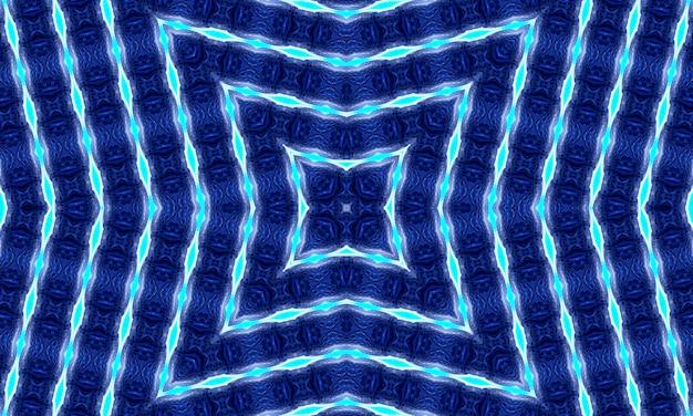 抽象的万花筒的背景。丰富多彩的无缝模式。几何设计元素。重复扎染。民族波斯图案。彩虹壁纸,织物,家具打印。迷幻风格。