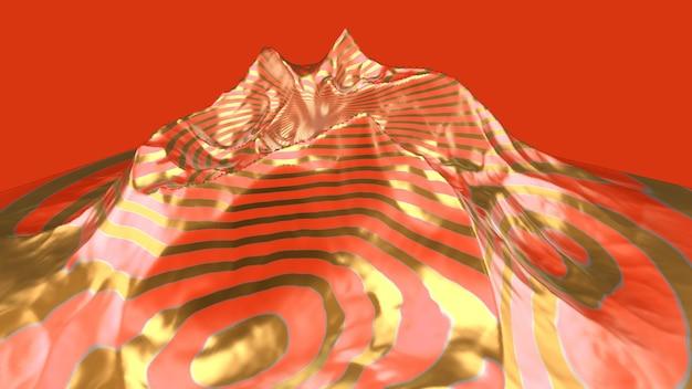 Абстрактный пейзаж. 3d иллюстрации, 3d-рендеринг.