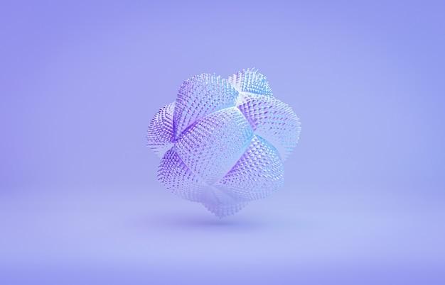 抽象的なラベンダーの幾何学的な結晶の背景の虹色のテクスチャ