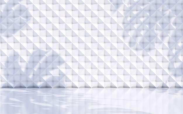 抽象は白い壁の概念で影の背景を残します。 3dレンダリング
