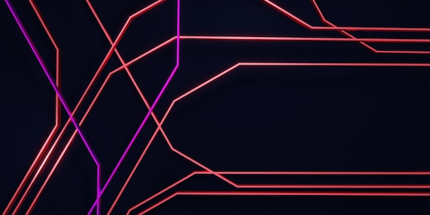 Абстрактный свет и красочные линии фон технологии сцены концепции 3d иллюстрации