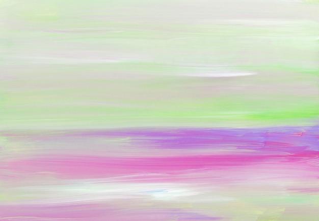 Абстрактные легкие художественные, белые, фиолетовые, зеленые, розовые пастельные мазки на бумаге.