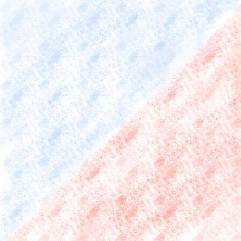 抽象的な水色と赤の三角形の背景