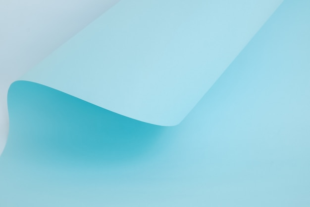 Abstract light blue color paper in geometric shapes