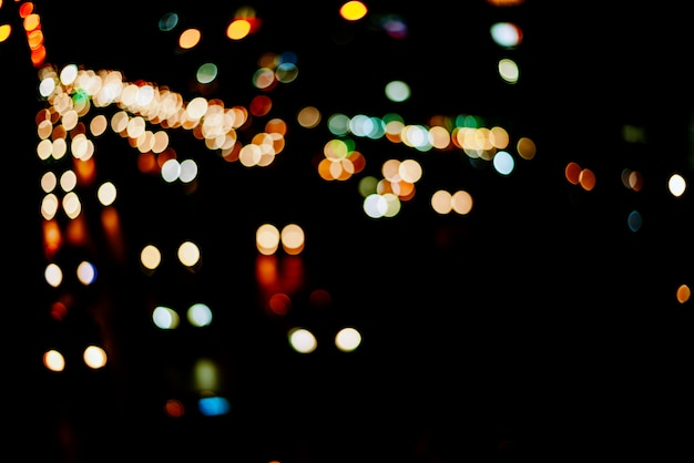 Abstract light bokeh background, blur colorful bokeh light background