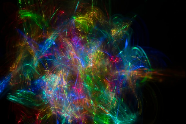 Abstract light and colorful blur background on black background with copy space