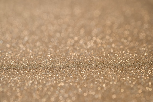 Abstract light gold sparkling glitter wall and floor