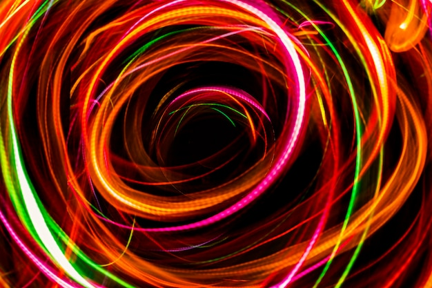 Abstract light imagine to black hole in space.