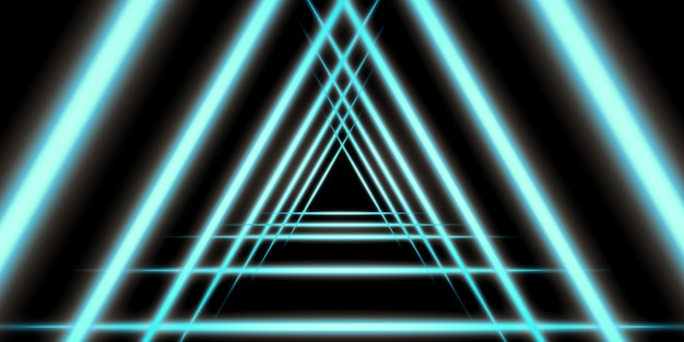 Abstract light lines glowing lines on a dark background 3d illustration