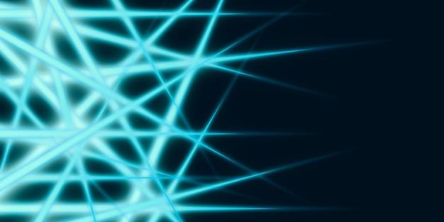 어두운 배경 3d 그림에 추상 빛 라인 빛나는 라인