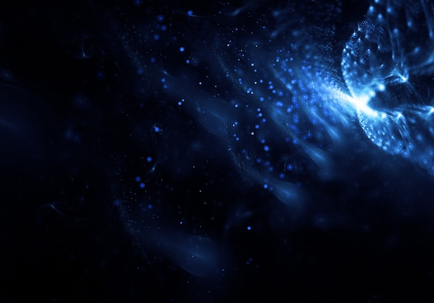 Abstract light particles background