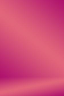抽象的なライトピンク赤い背景クリスマスとバレンタインレイアウトデザイン、スタジオ、部屋、webテンプレート、円滑な円のグラデーションカラーでビジネスレポート。