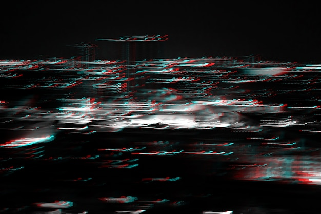 Abstract lighting cityscape noise glitch error