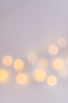 Abstract lights on grey background