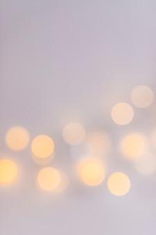Абстрактные огни на сером фоне