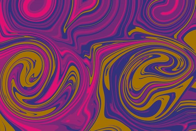 Abstract line as liquid oil on the background by illustration