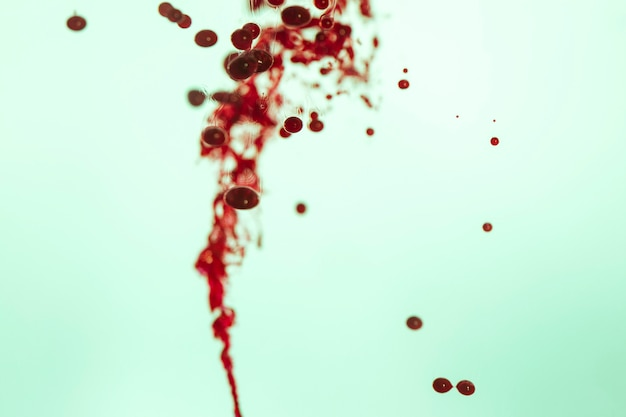 Abstract line of blurred red cells