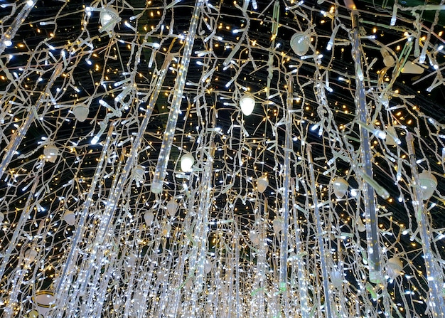 Abstract line of led decorative lights